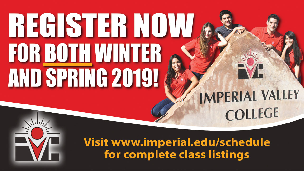 Register Now for Both Winter and Spring 2019
