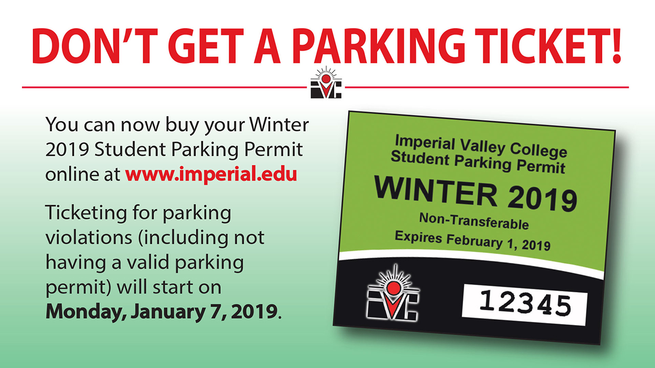 Don't Forget to Buy Your Winter 2019 Parking Permit