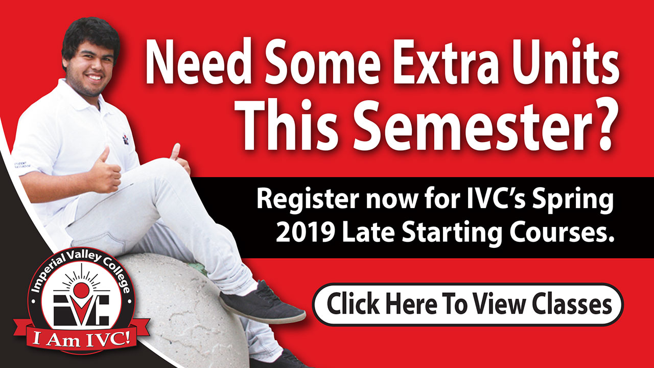 Earn Extra Units for Spring 2019 with our Late Start Classes