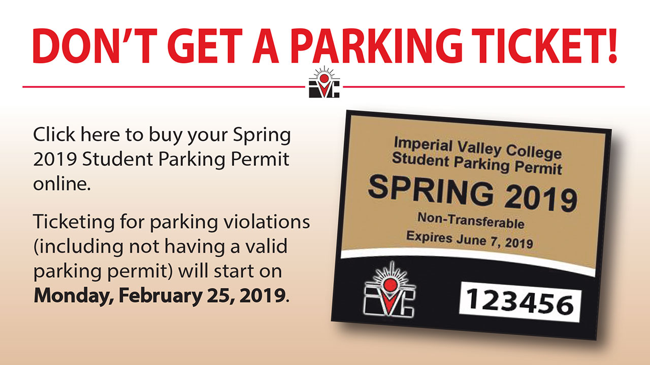 Remember to buy your Spring 2019 Parking Pass
