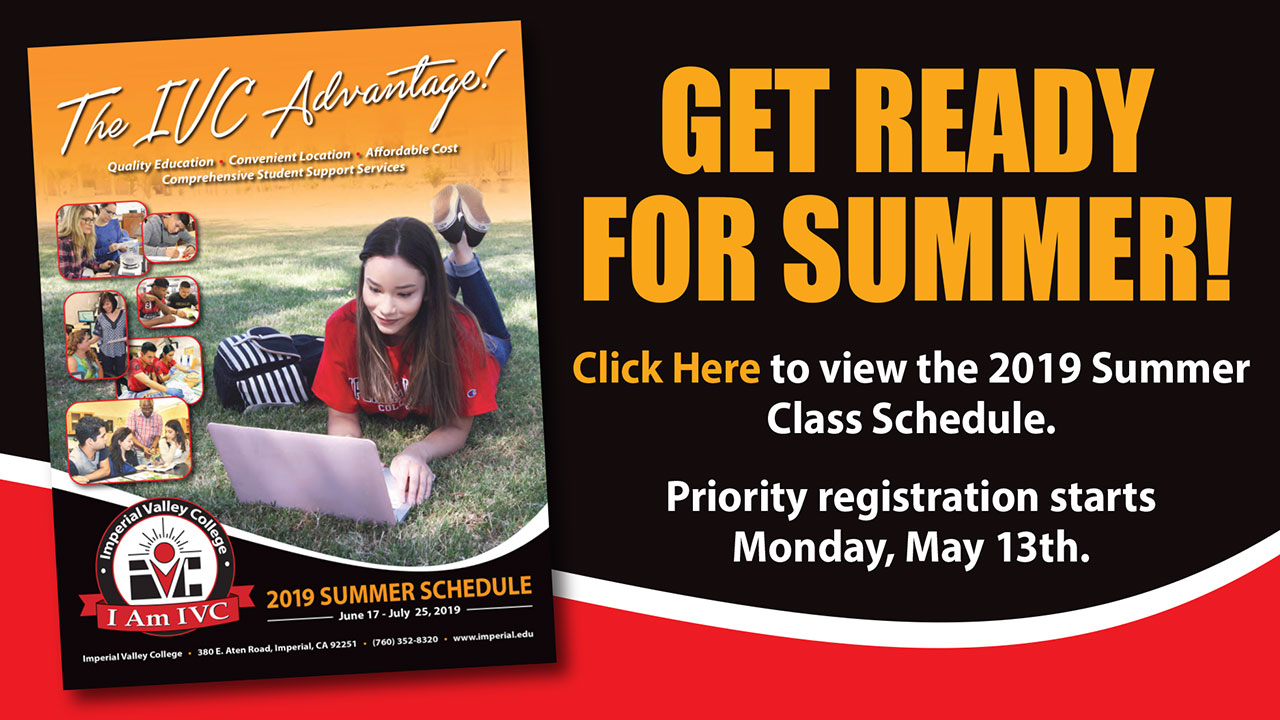 Summer 2019 Registration Starts May 13