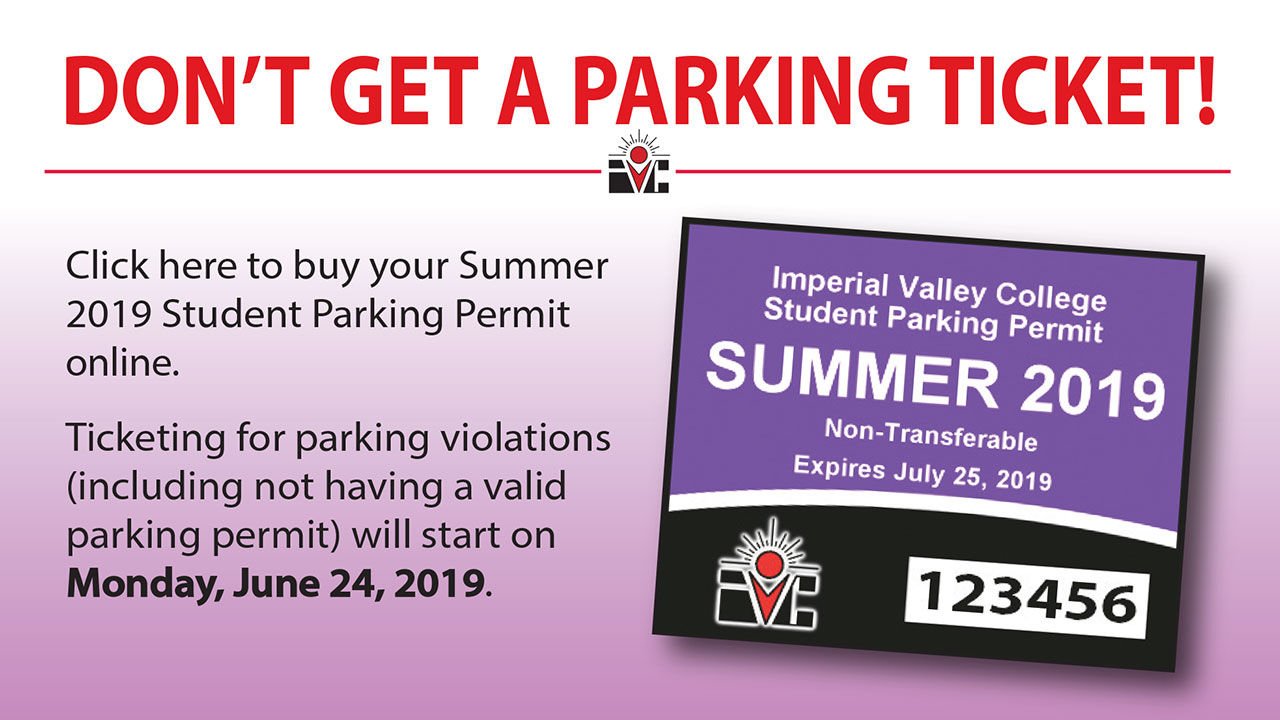 Remember to Purchase Your Summer 2019 Parking Permit