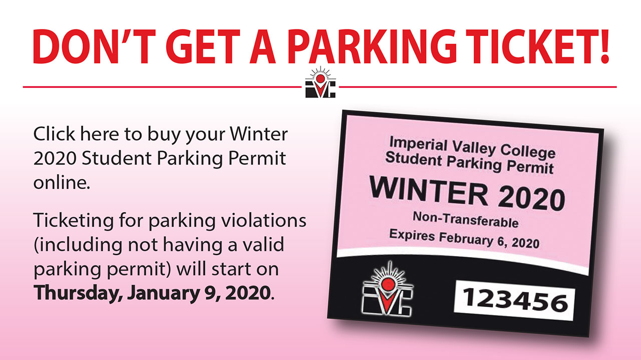 Remember to purchase your Winter 2020 Parking Pass