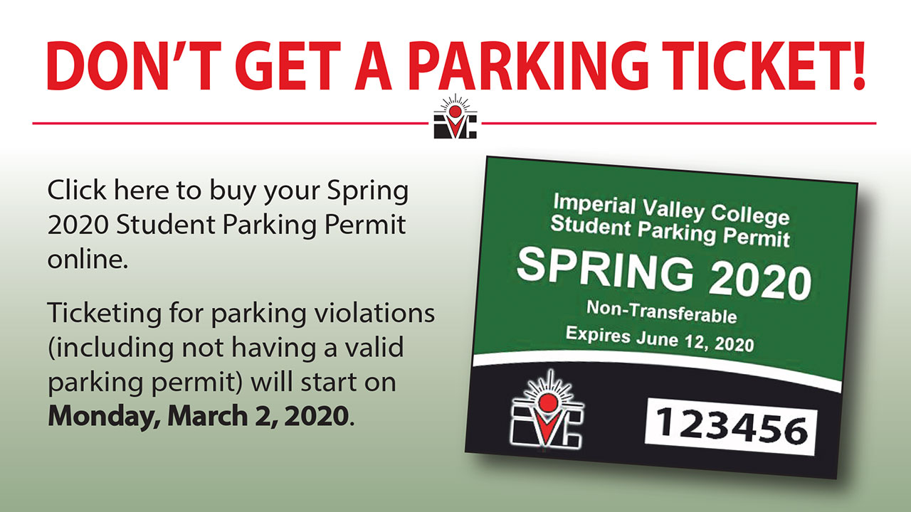 Remember to purchase your Spring 2020 Parking Pass