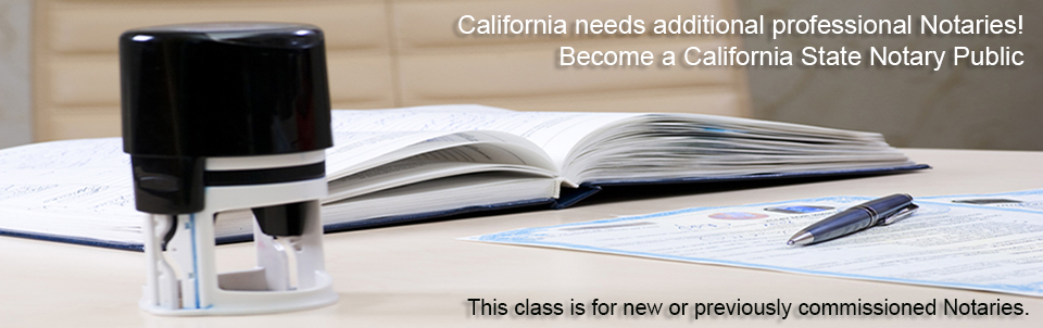 We offer Notary Public Classes