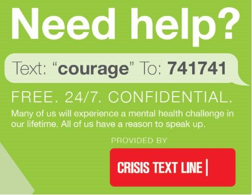 Crisis Text Line Graphic