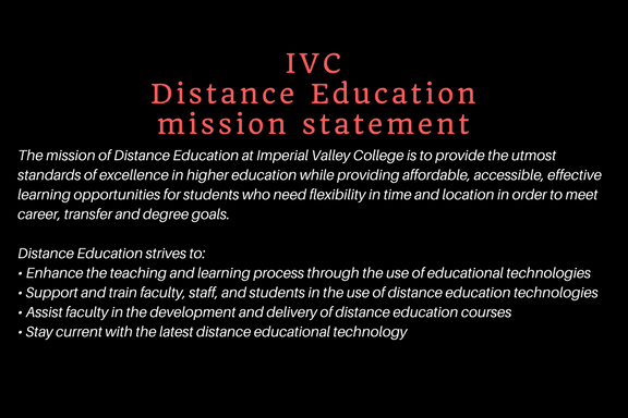 IVCDistance Education Mission Statement 1