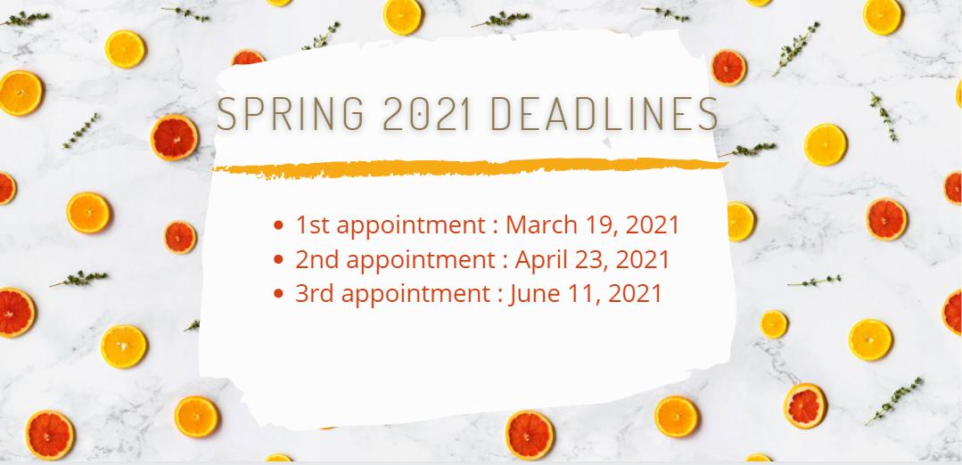 EOPS spring deadlines webpage