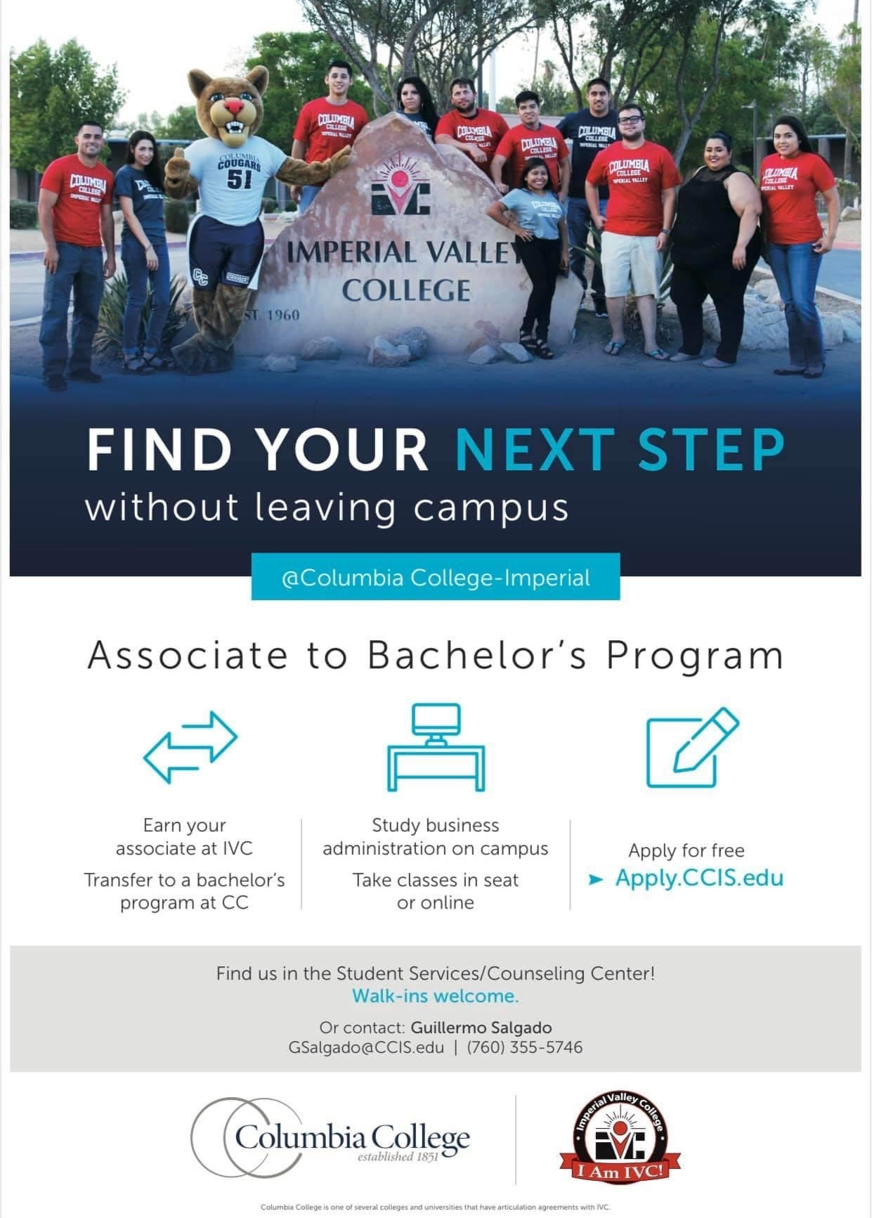 Get in touch with Columbia College