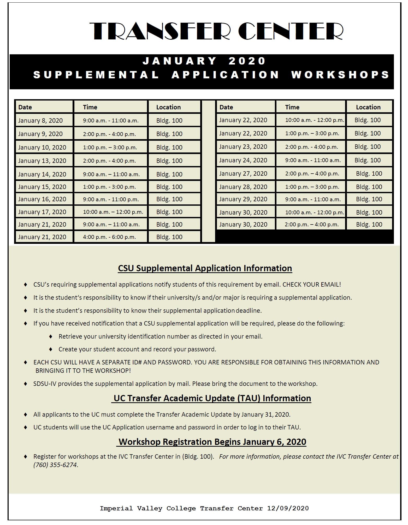 Supplemental Application Flyer