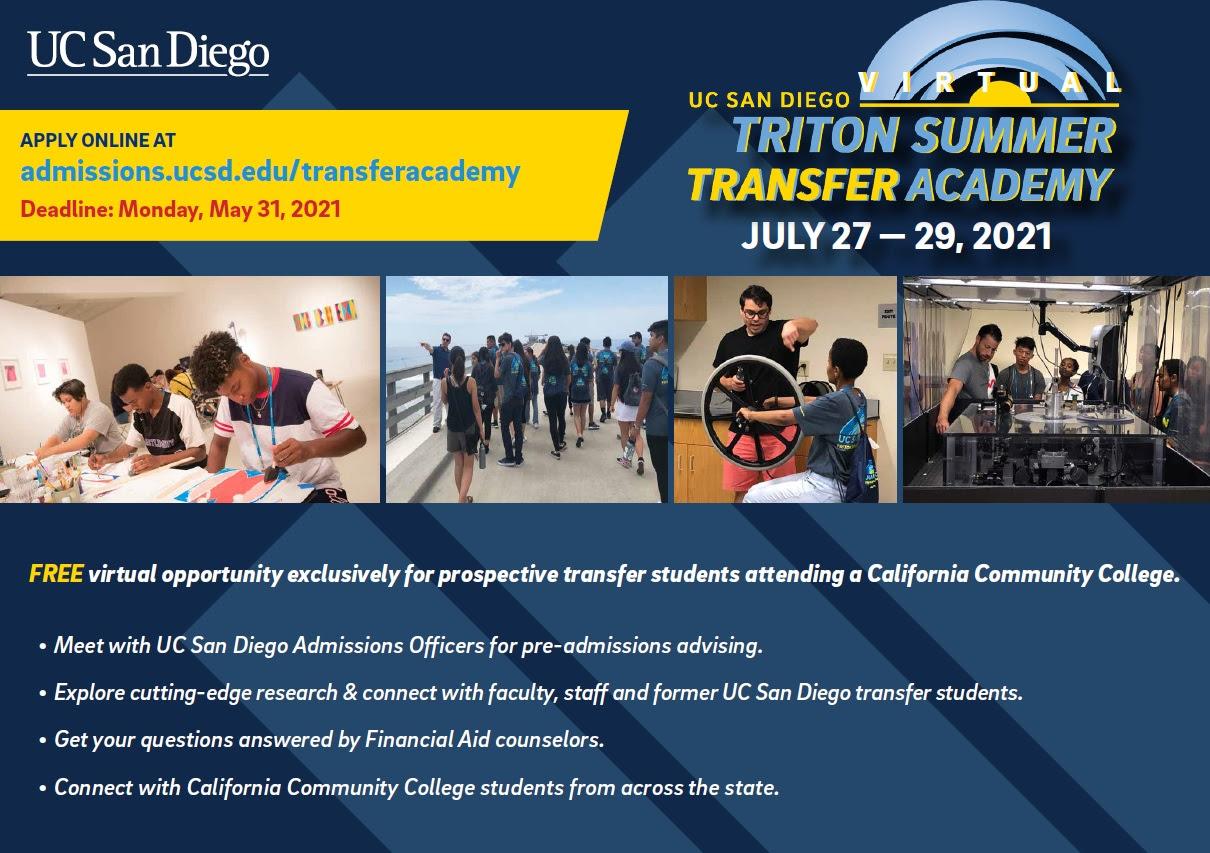 UCSD Triton Summer Transfer Academy