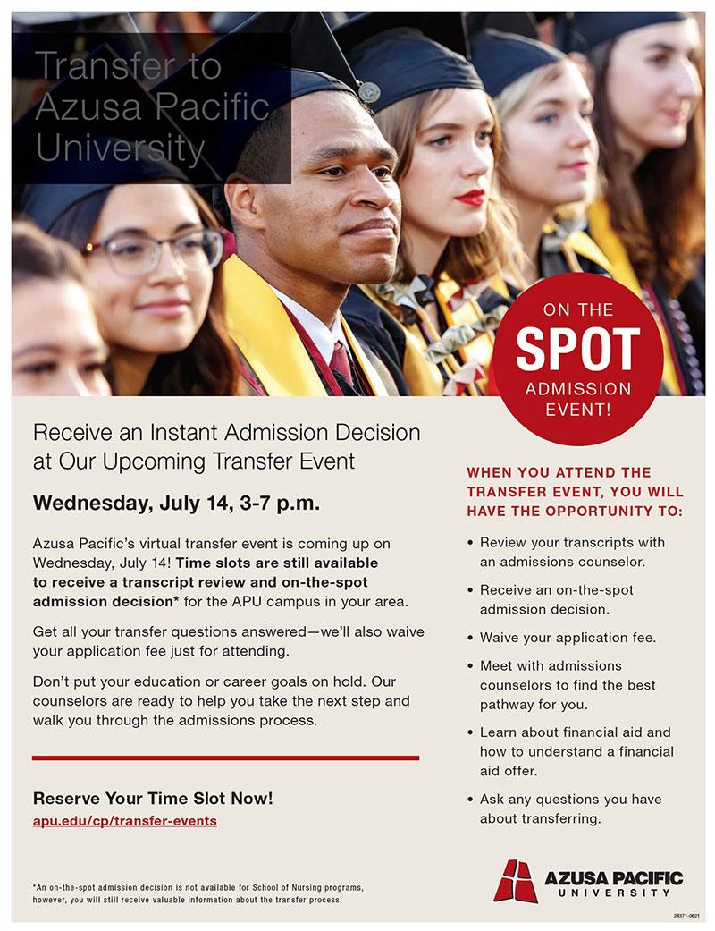 transfer azusa pacific university