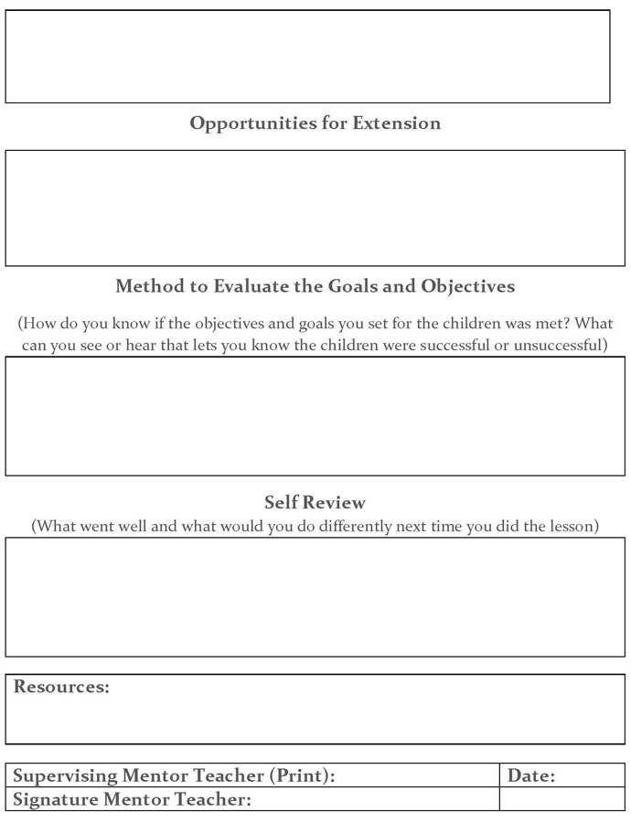 Lesson Plan Template Guide For Student Success Child Development