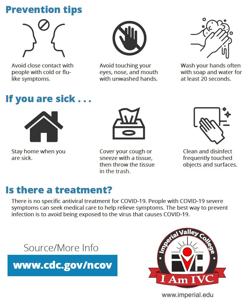 CDC Coronavirus Prevention Tips