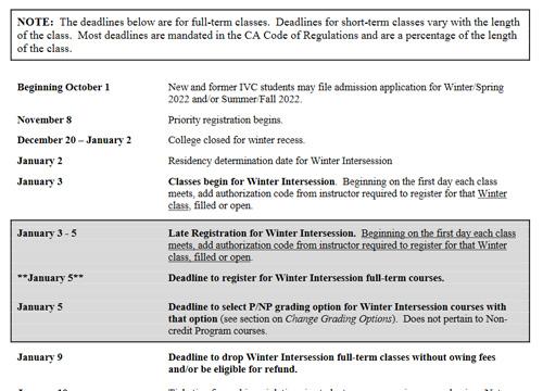 admissions important dates