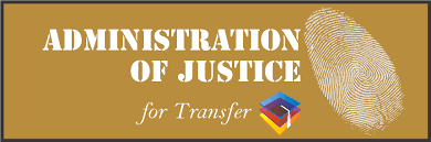 Admin of Justice for Transfer AS T Degree   Learning and Career Pathway
