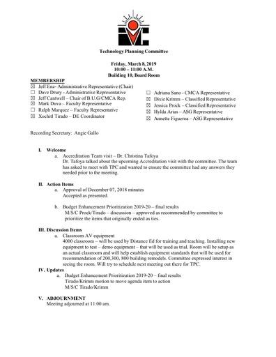 03 08 19 TPC Agenda