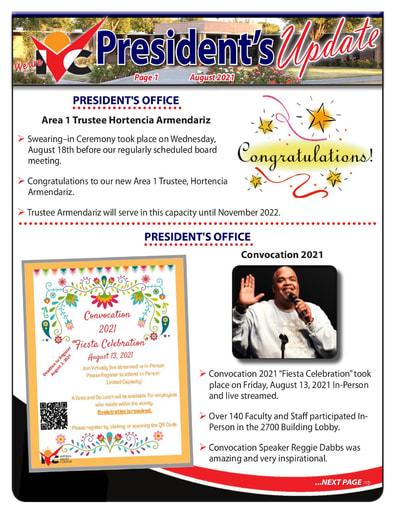 President's Update 08 - 082321