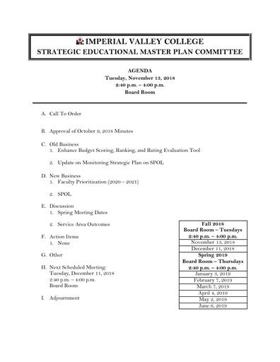 Agenda SEMPC 2018 11 13