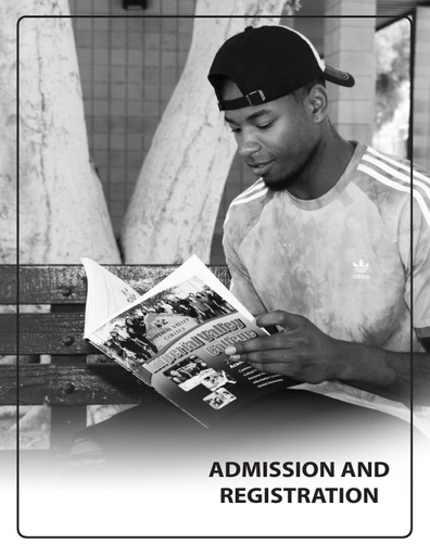 2019-2020 Catalog - Part 02 - Admission and Registration
