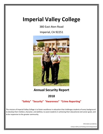 2018 Annual Security Report