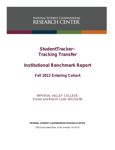 Transfer Track Report Fall 2012 to Fall 2018 Cohort