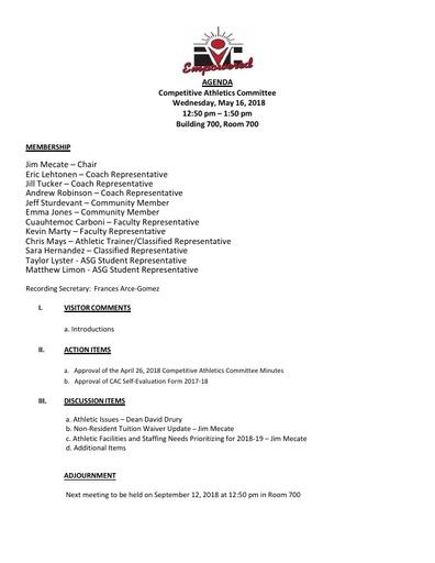 2018-05-16 CAC Agenda