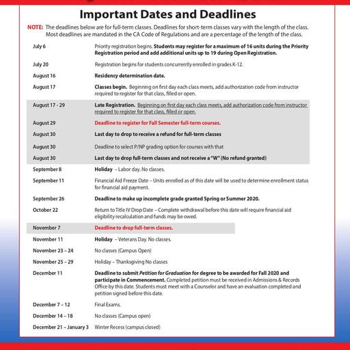 2020-08-17 - IVC Fall Schedule