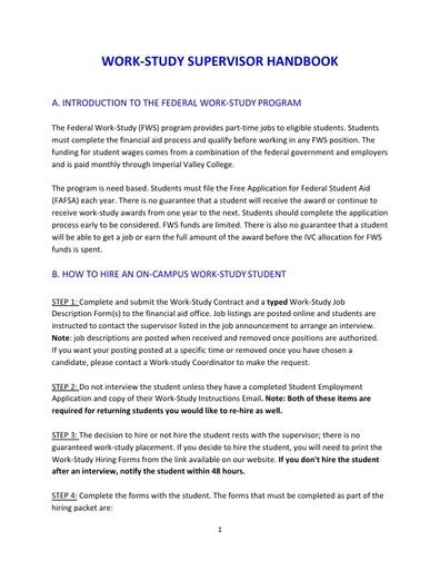 WS Supervisor Handbook 19 20