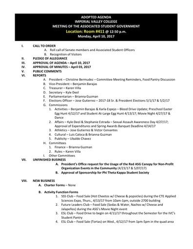 Agenda ASG 2017 04 10