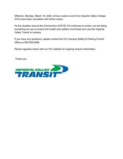 2020-03-16 - IV Transit
