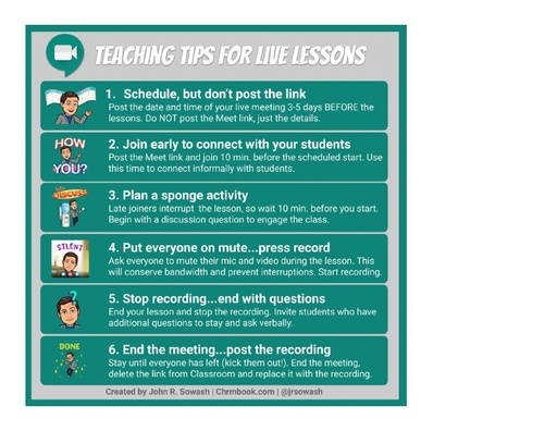 Teaching tips for Live Lessons