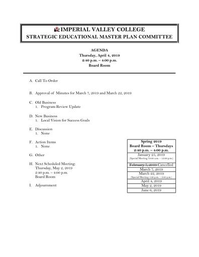 Agenda SEMPC 2019 04 04