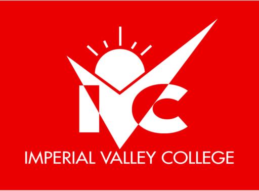 Ivc logo vertical red bg 1 color white
