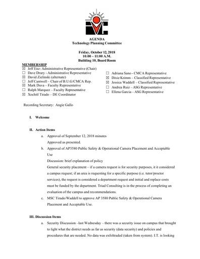 10.12.18 TPC Minutes