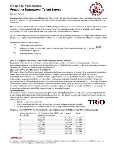 ETS APPL SPANISH FILLABLE 2020 Spring 2021