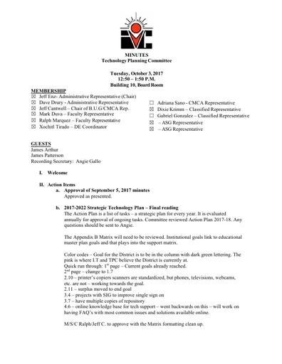 10.03.17 TPC Minutes