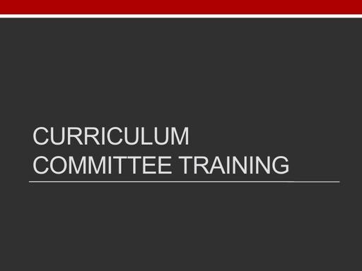 Curriculum - 2021 Presentation