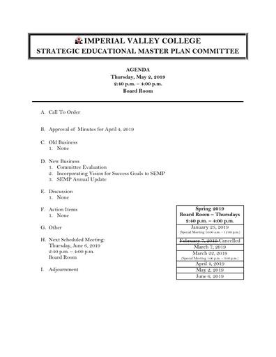 Agenda SEMPC 2019 05 02