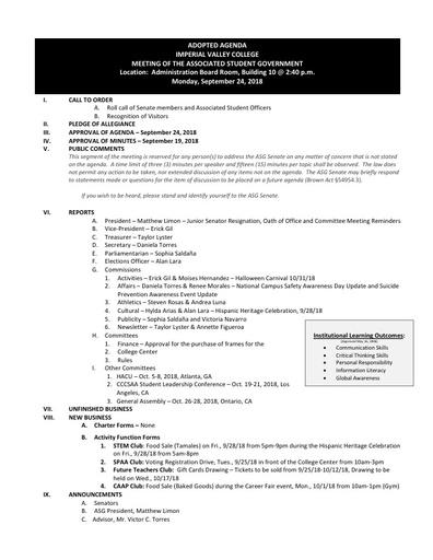 Agenda ASG 2018 09 24
