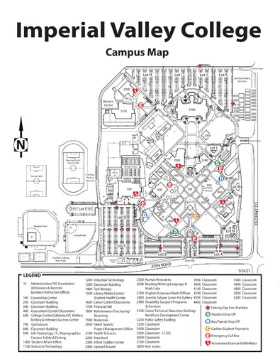 IVC Campus Map Fall 2021