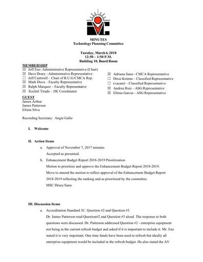 03.06.18 TPC Minutes