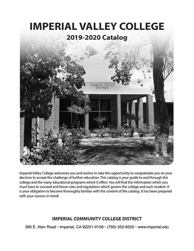 2019-2020 Catalog - Part 01 - Accreditation About the College