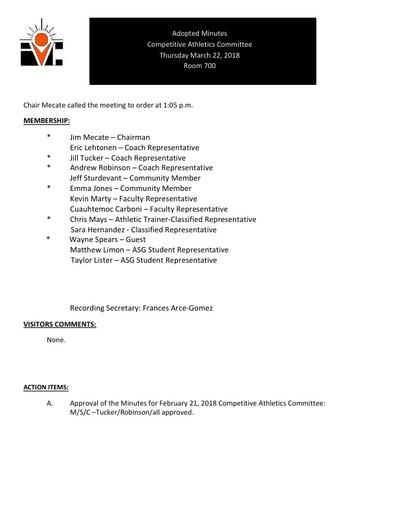 2018-03-22 CAC Minutes