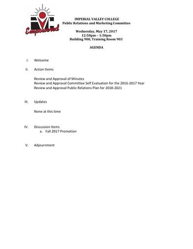 PRMC Agenda 5 17 17