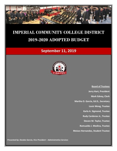 2019-20 Final Adopted Budget