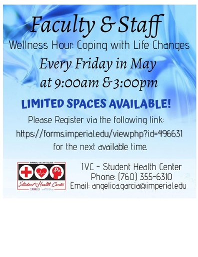 Faculty Staff Wellness Hour Flyer