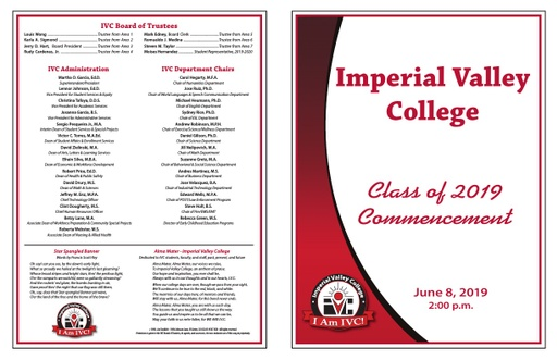 2019-06-08 - Commencement Program 2019 PM