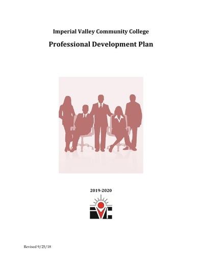 Professional Development Plan  2019 2020