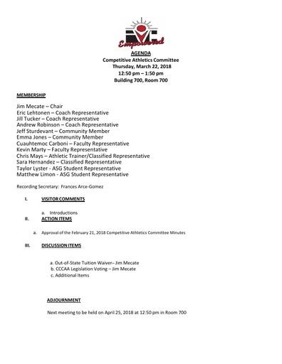 2018-03-22 CAC Agenda